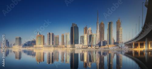 Poster Australie Panoramic view of Dubai Business bay, UAE