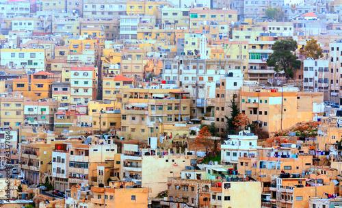 Printed kitchen splashbacks Light blue Aerial view of Amman