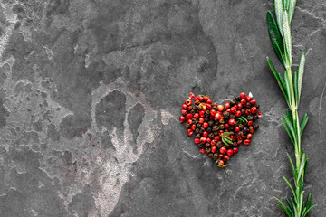 coloured pepper with love f...