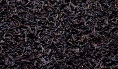 black leaf tea close-up
