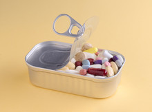 Colorful Medicines In Container