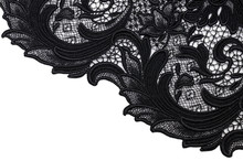 Cotton Fabric, Black Lace