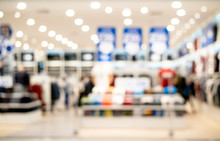 Abstract Blur And Defocused Clothing Store At Shopping Mall Of Department Store For Background