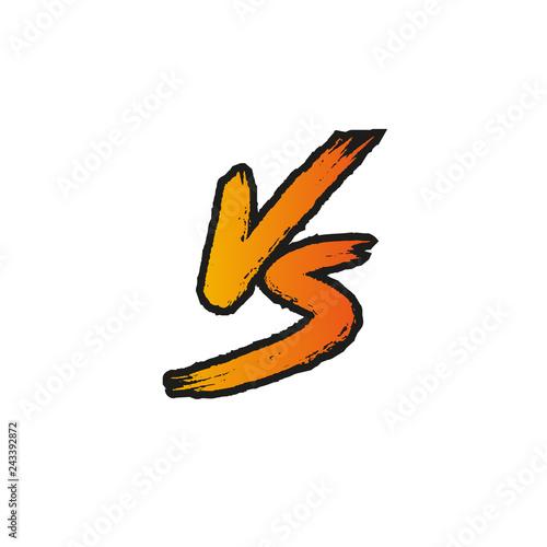VS. Versus letter logo. Battle vs match, game Stock ベクター ...