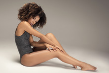 Afro Woman With Perfect Slim B...