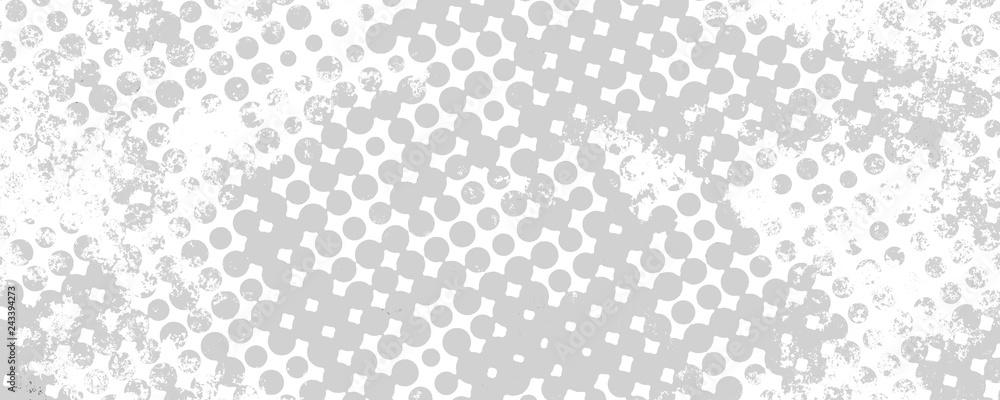 Fototapeta Monochrome grunge background of spots halftone