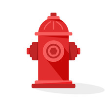 Red Fire Hydrant Icon With Sha...