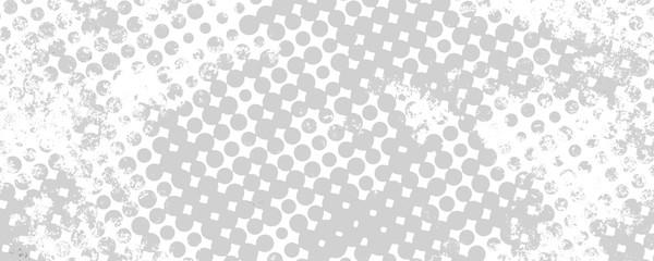 Monochrome grunge background of spots halftone