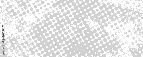 Poster de jardin Pop Art Monochrome grunge background of spots halftone