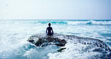 Woman Meditation At The Seasid...