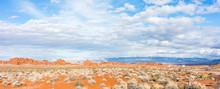 Sandstone Fromation In The Nevada Desert Rocks.