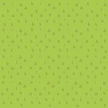 Cartoon Grass Vector Flat Pattern