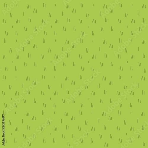 Cartoon grass vector flat pattern Wall mural