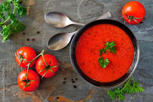 Fotografie, Obraz  Homemade tomato soup