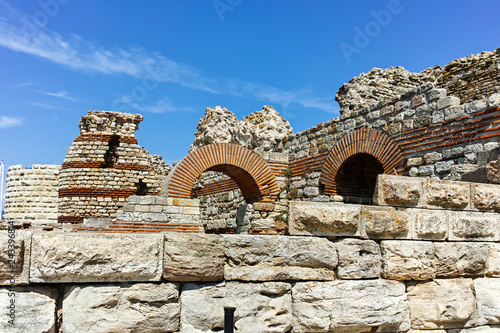 Fotografia  Ruins of Ancient Fortifications at the entrance of old town of Nessebar, Burgas