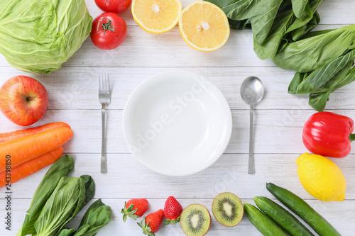 Fotomural  野菜を食べる