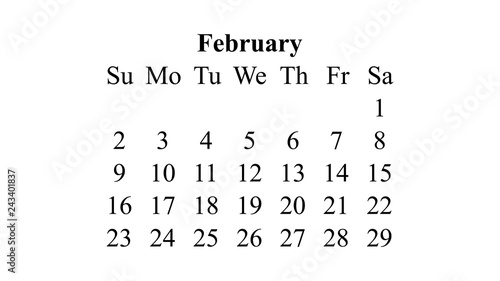 February 2020 Desktop Wallpaper Calendar February 2020. Calendar 2020 vector. Simple design minimal 2020