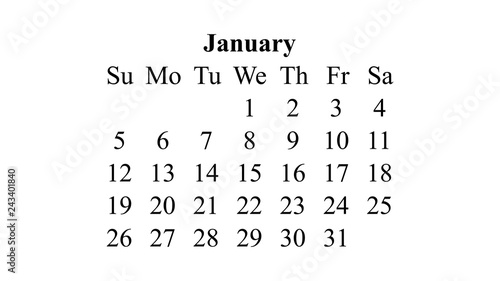 January 2020 Desktop Calendar Wallpaper January 2020. Calendar 2020 vector. Simple design minimal 2020