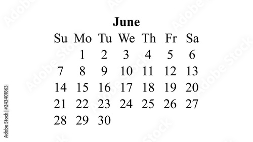 Calendar June 2020.June 2020 Calendar 2020 Vector Simple Design Minimal 2020 Calendar