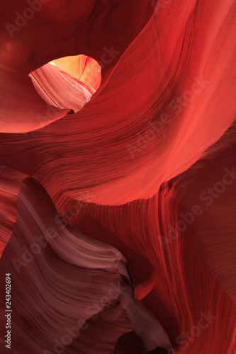 Wall Murals Magenta Slot Canyon Abstract