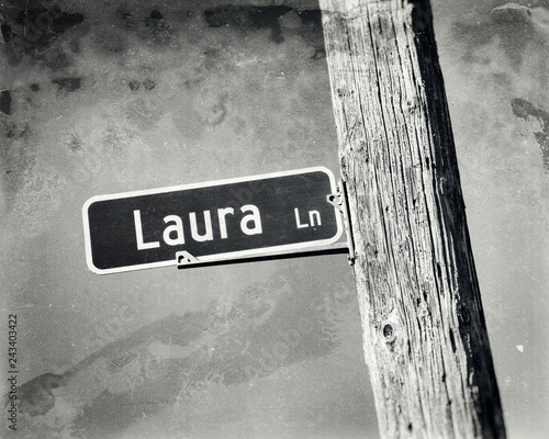 Photo Laura Name Street Sign