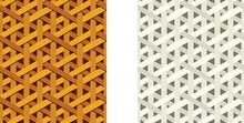 Seamless Weave Rattan Pattern, Flat Vector Art