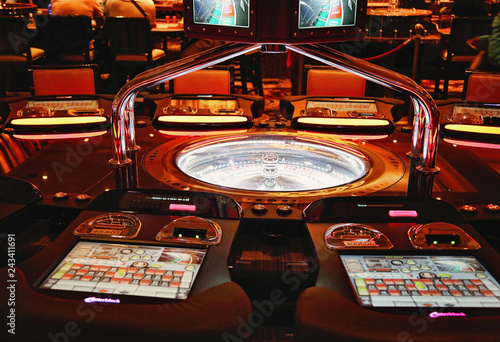 фотография  Las Vegas, Nevada-March 10, 2017: Casino machines in the entertainment area at n