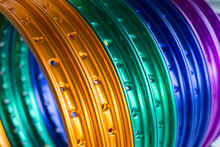Colorful Aluminum Wheels Of Motorcycles
