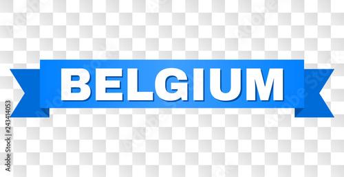 Fotografía  BELGIUM text on a ribbon