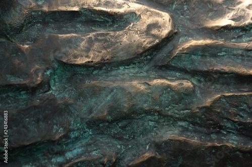 Fotografie, Obraz  bronze texture background