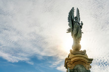 The Angel Statue Monument Stands On The Brighton And Hove Boundary Representation Of Peace. The Peace Statue At Seafront.