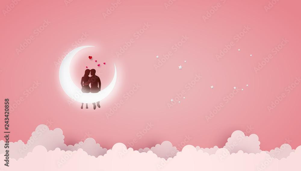 Fototapeta Concept of Love and Valentine day .