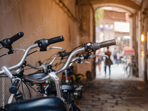 Fotografie, Obraz  Bicycle rental Shop People city lifestyle Transportation Bike Tour