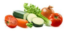 Tomato, Carrot, Zucchini, Cele...