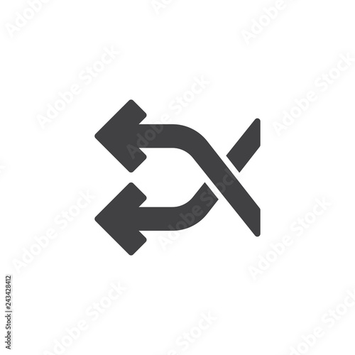 Fotografie, Obraz  Shuffle crossing arrows vector icon