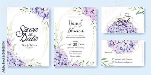 Tablou Canvas Wedding Invitation, save the date, thank you, RSVP card Design template