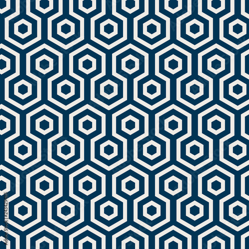 Seamless Japanese pattern with tortoiseshell motif vector Fototapet