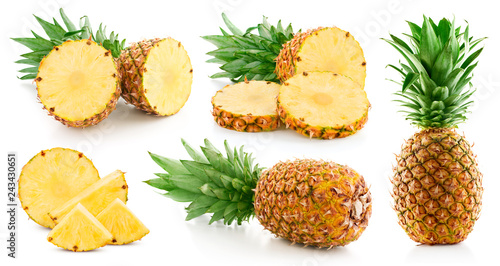pineapple isolated on white Canvas Print