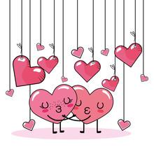 Love Heart Couple Cartoon