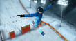 Freestyle aerials skiing