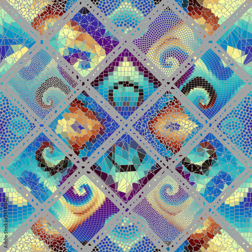 Vector mosaic art pattern. Vector mosaic image Canvas-taulu