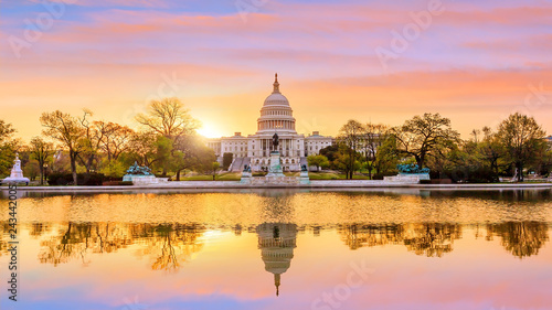 Obraz na plátně Capitol building in Washington DC