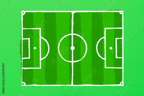 Fotografie, Obraz  Image of a football field on a green cardboard