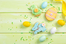 Easter Background - Cookies Sh...