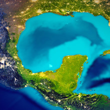 Mexican Gulf Map