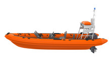 Rescue Lifeboat Isolated