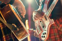 Guitarist And Bassist Pop Musi...