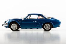 Blue Toy Model On A White Back...