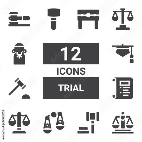 Photo  trial icon set