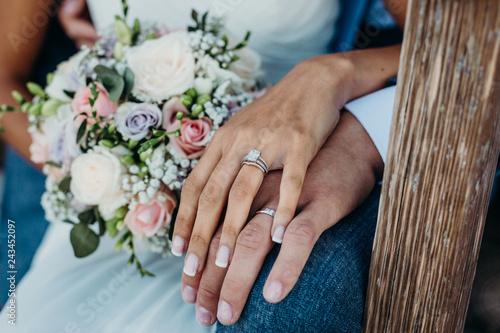 Fototapeta The wedding rings